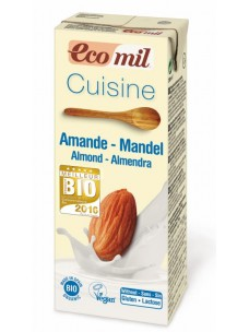 Ecomil Almond Cuisine (Dairy-free cooking cream)  1x200mls   NEW !!!   --ORGANIC PRODUCT OF THE YEAR 2016