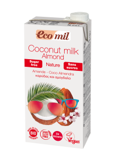Ecomil Coconut milk and Almond Drink Sugar free 1L