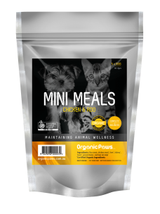 OrganicPaws Mini Meals-Chicken and Roo 500g (5x100g)