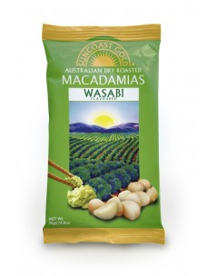 Suncoast Gold Macadamia Nuts Wasabi Flavoured 75g