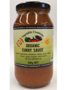 Vegetable Creations Organic Mild Curry Sauce 500g