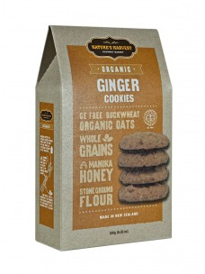Natures Harvest Org Ginger Cookies 180g Box