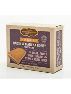 Natures Harvest Org Raisin-Honey Bars 200g box