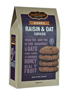 Natures Harvest Org Raisin & Oat  Cookies 180g Box