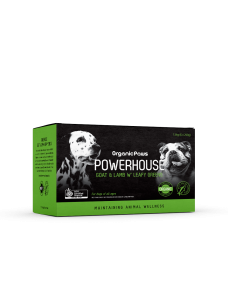 Organicpaws Powerhouse Goat & Lamb with leafy vegetables 1.5kg (6x250g)