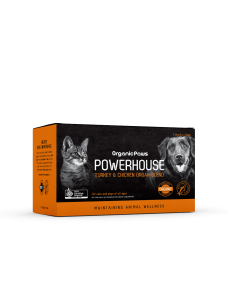 OrganicPaws Powerhouse Turkey & Chicken Organ Blend 1.5kg (6x250g)
