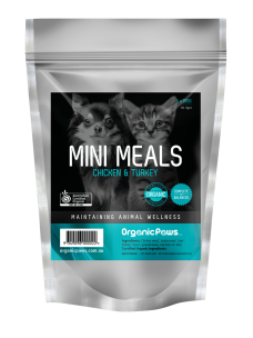 OrganicPaws Mini Meals-Chicken and Turkey 500g (5x100g)