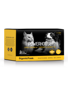 OrganicPaws Powerhouse Lamb & Chicken with Turmeric & Coconut oil 1.5kg (6x250g)