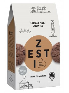 Zesti Harvest Org Chocolate  Cookies 180g Box