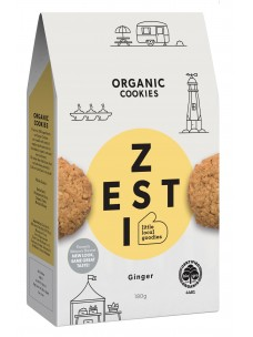 Zesti Org Ginger Cookies 180g Box