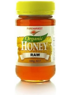 Pure Harvest Organic Raw Honey 500g