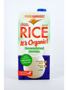 Pure Harvest Org Rice Dream+Cal 12x1lt